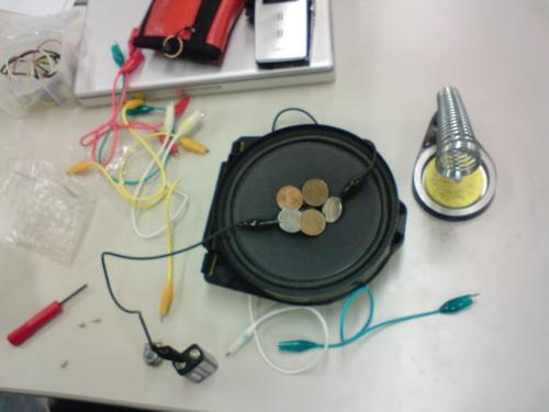 STEIM in Tokyo - Speaker making